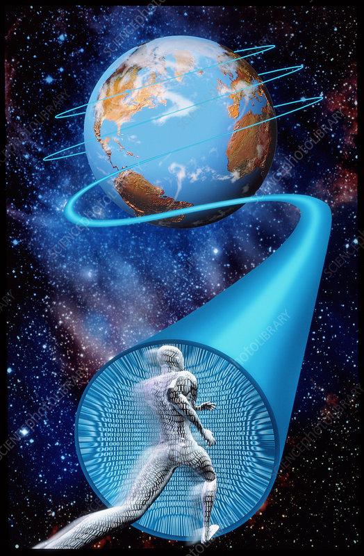 Computer artwork of the information superhighway