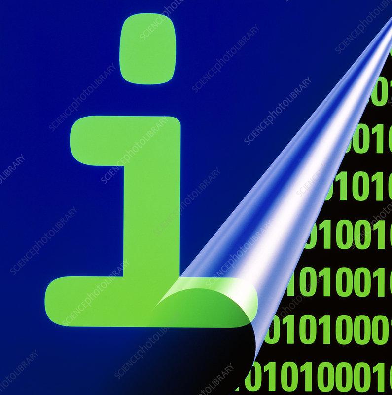 Computer artwork representing digital information