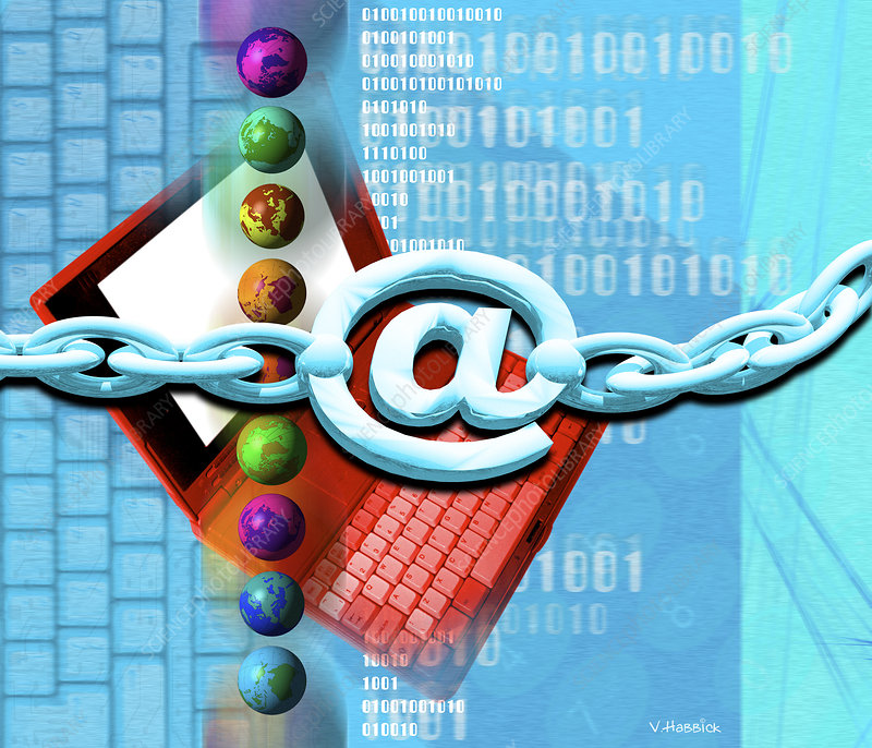 Conceptual computer artwork of internet security