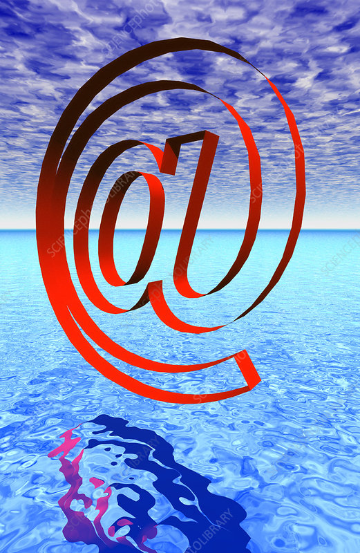 Artwork of e-mail address '@' sign