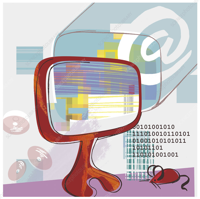 Internet use, conceptual artwork