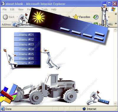 Website construction, computer artwork