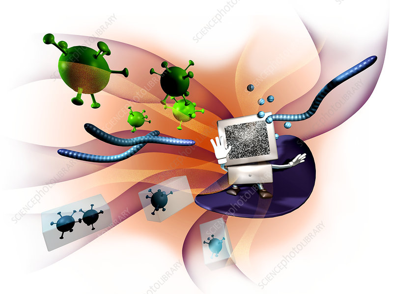 Computer viruses, computer artwork