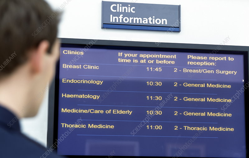 Clinic information display board