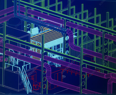CAD display of ventilation for underground site