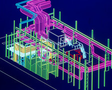 CAD display of ventilation for underground site