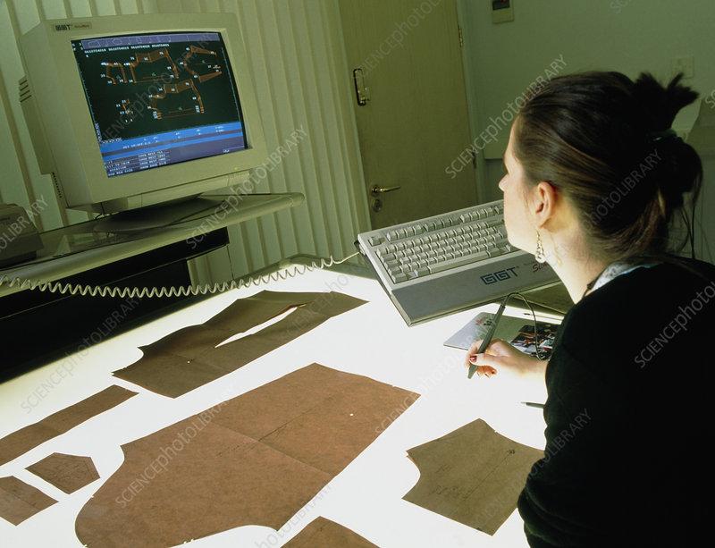 Clothing designer using computer-aided design