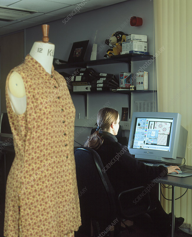 Designer using computer-aided software