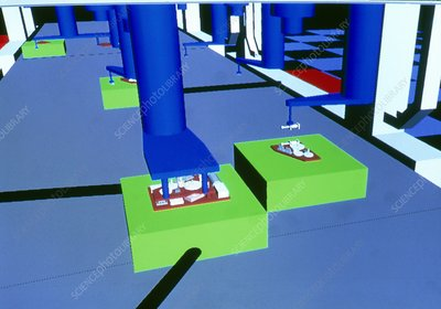 CAD of a microfactory production line