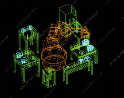 Assembly robot simulation