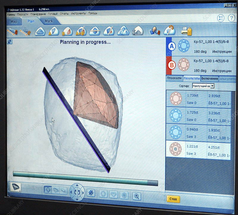 Computer-aided diamond cutting