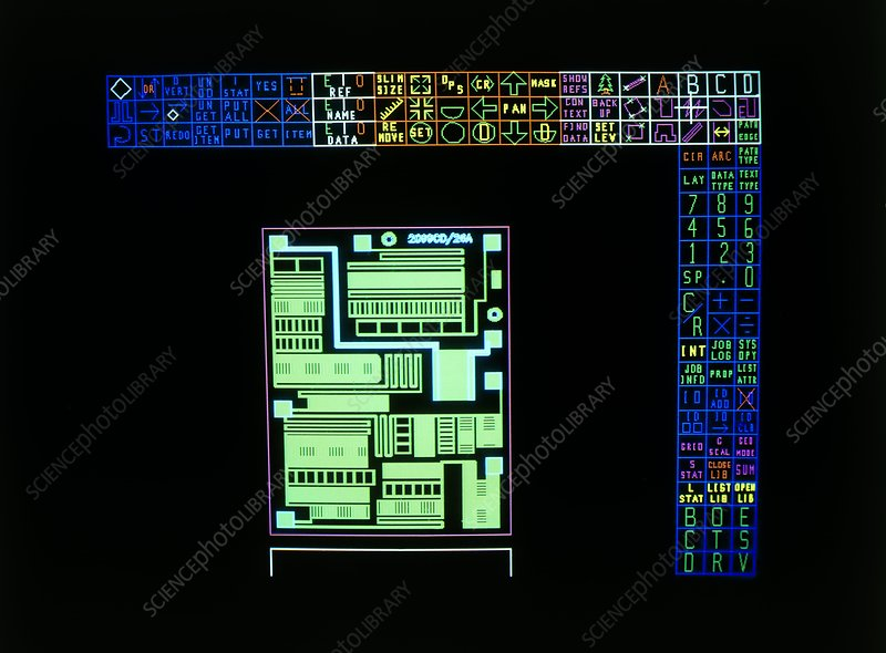 Computer-aided design of a silicon chip