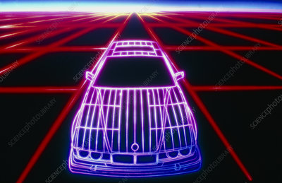 Computer graphic of car