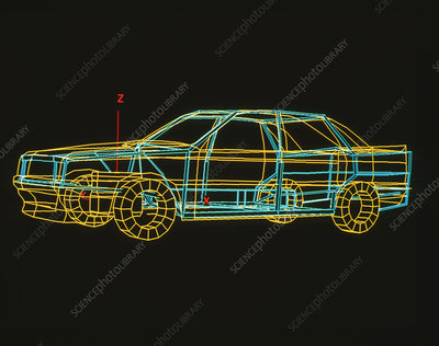Computer-Aided Design graphic of a car