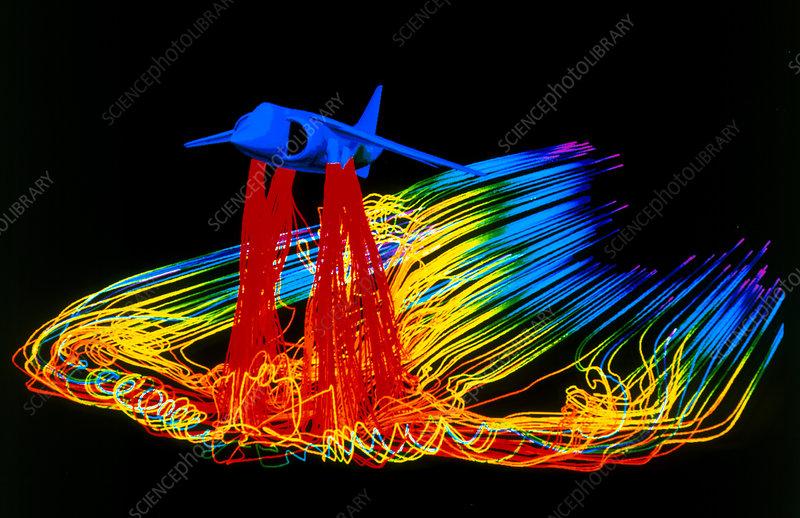 Flight simulation of a harrier jump-jet