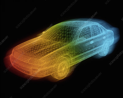 Computer-aided design of a car body
