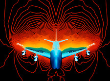 Aircraft wind tunnel simulation
