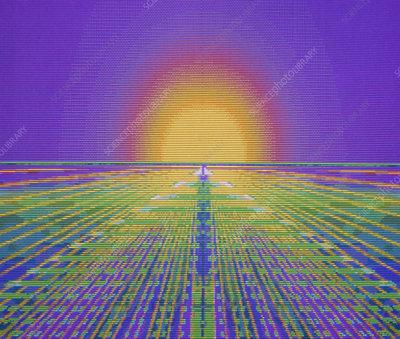 Computer art of grid