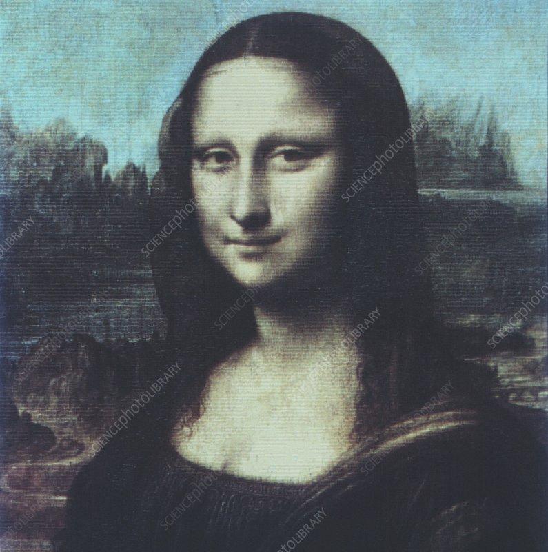Computer version of Mona Lisa, La Gioconda