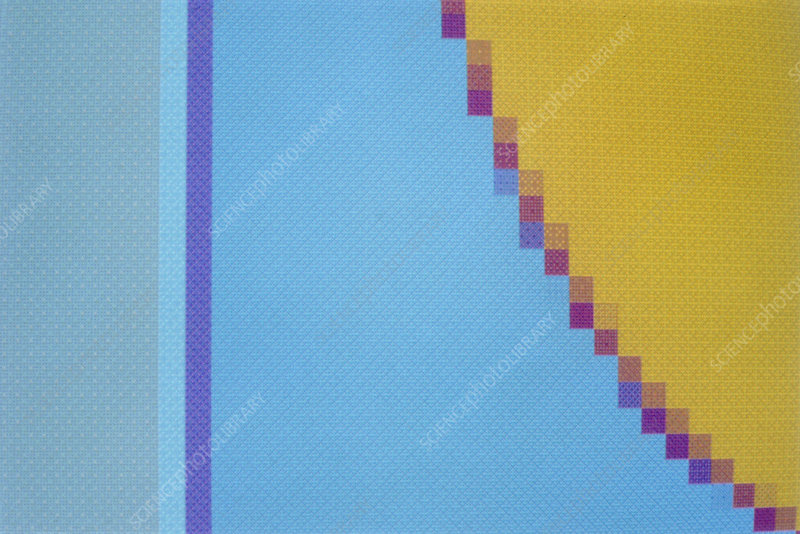 Abstract computer graphic pattern showing pixels