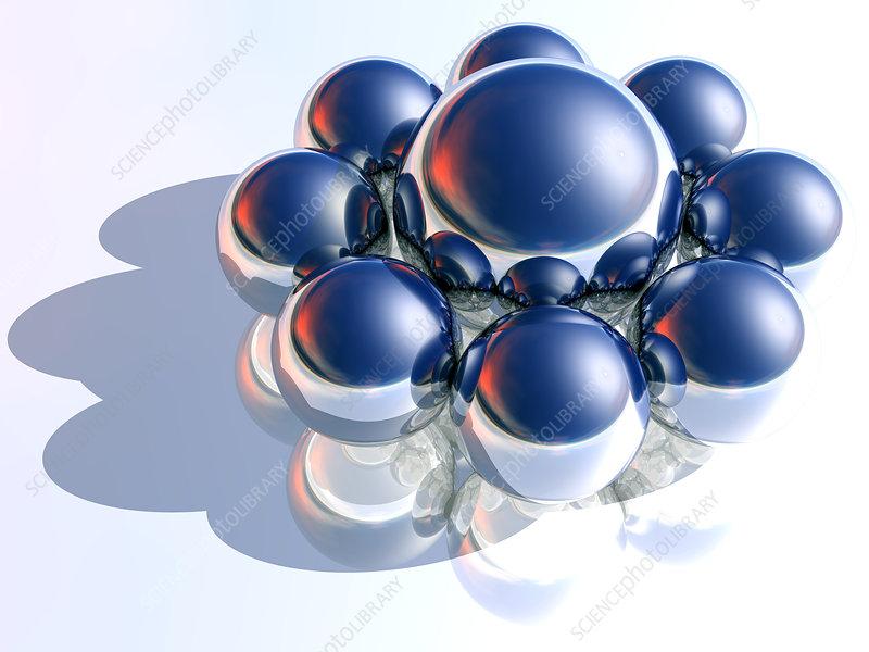Nine spheres, artwork