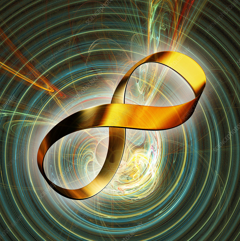Infinity symbol and black hole