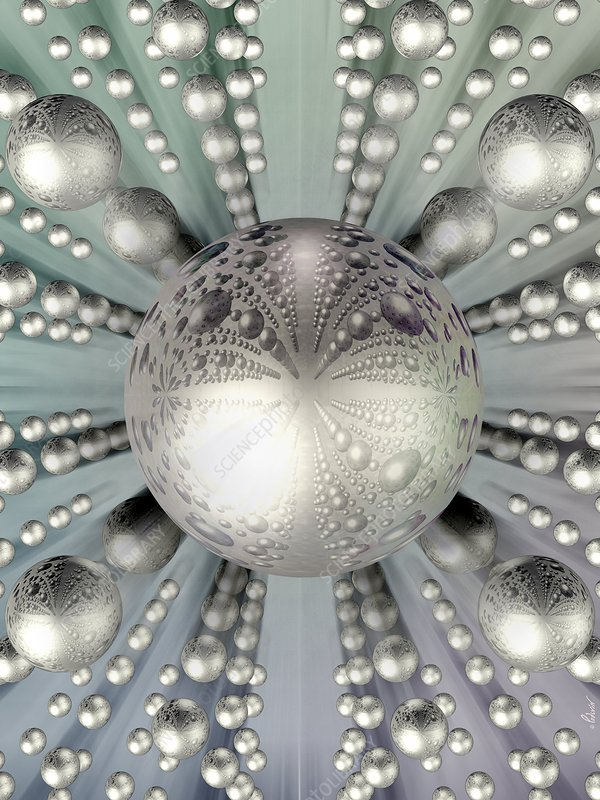 Silver spheres, artwork