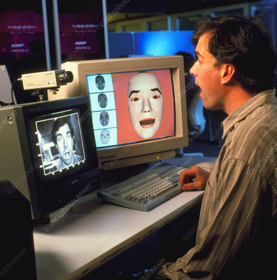 Computer recognition of a person's face