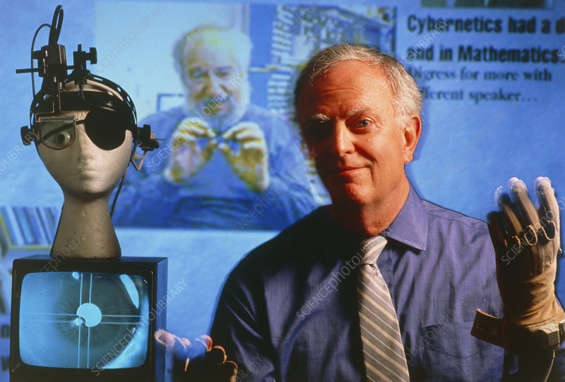 Richard Bolt with computerised eye-tracker