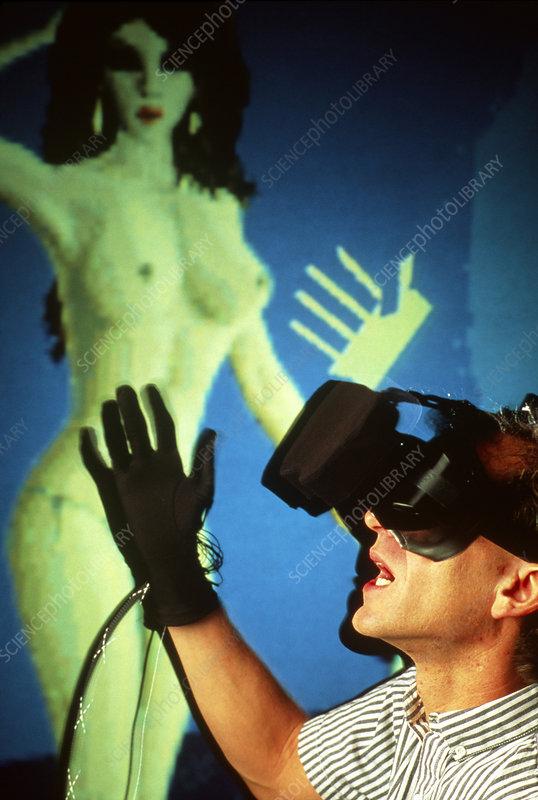 Virtual sex: mauling a virtual model