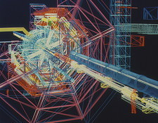 Computer artwork of ATLAS detector at CERN