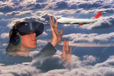 Virtual air-traffic control