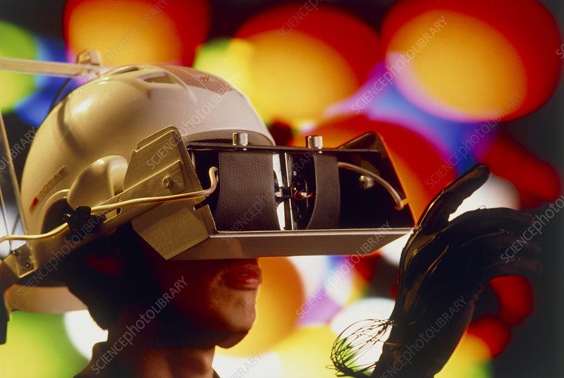 Virtual reality: scientist wears 1st gen headset