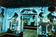 Virtual tourism: screen display of Nefertari tomb