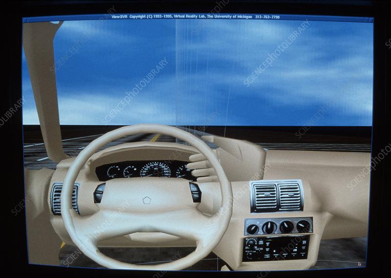 Virtual Reality display of a prototype car