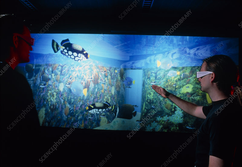 Virtual reality tank of the Lisbon Oceanarium