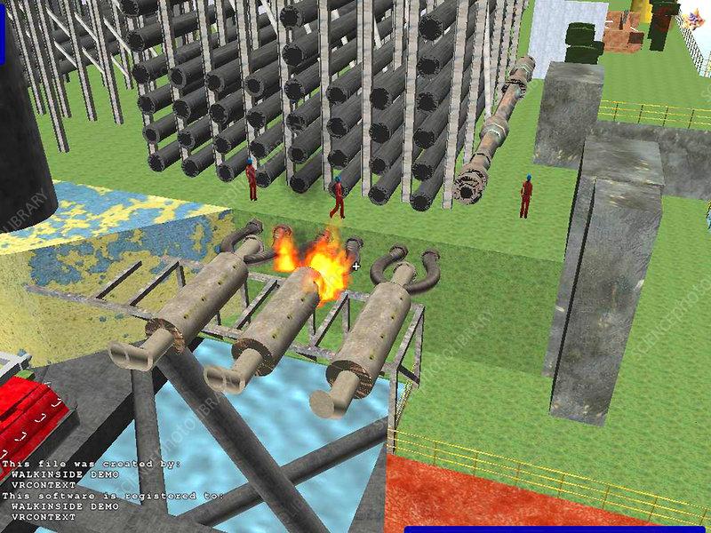 Virtual reality, disaster simulation