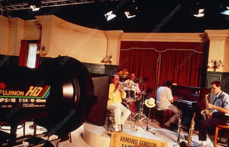 High-definition TV studio & camera equipment