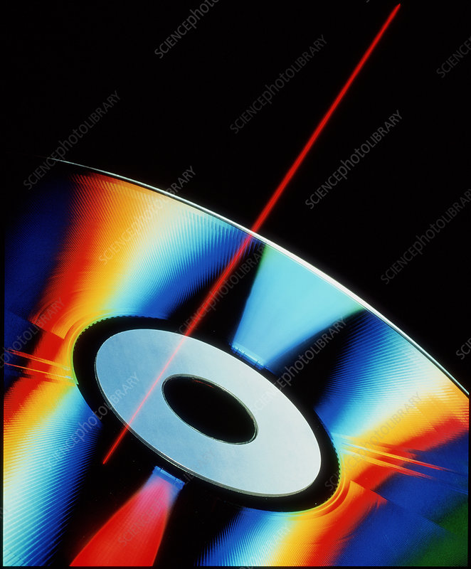 Laser videodisc with simulated laser beam