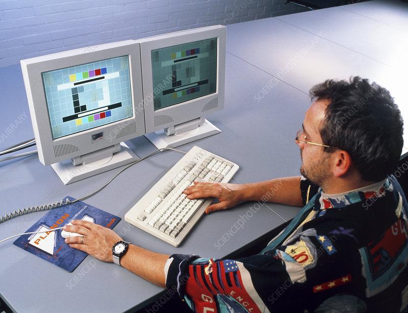 Computer screen lighting research