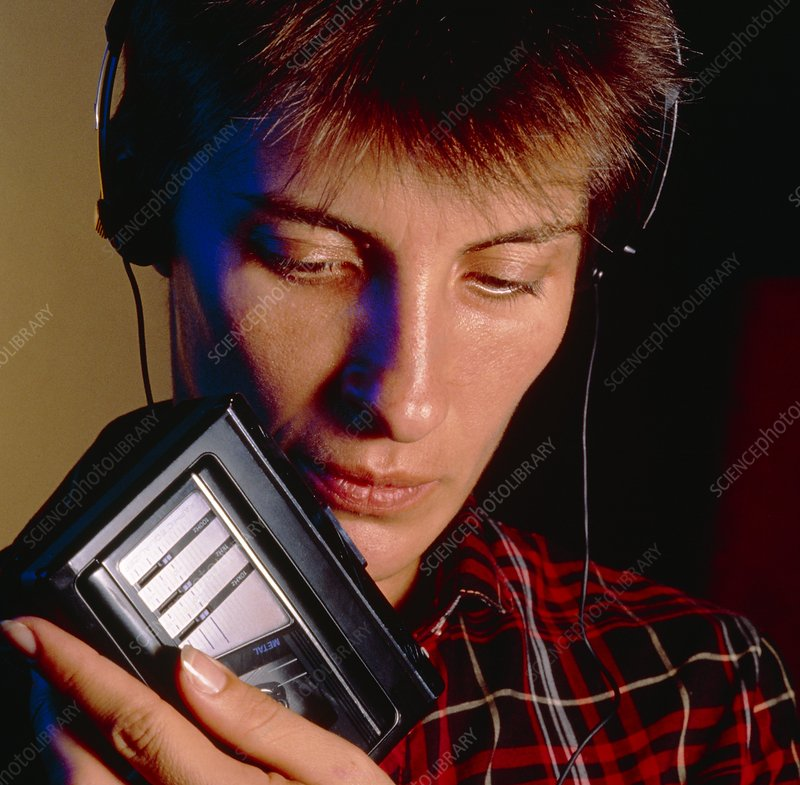 Cassette player and headphones