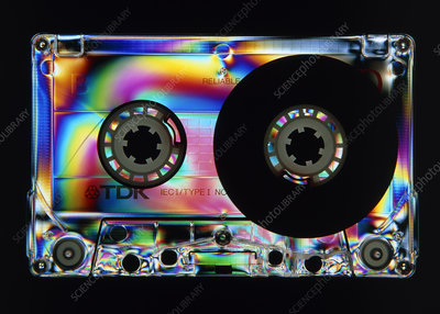 Stress patterns in plastic tape cassette