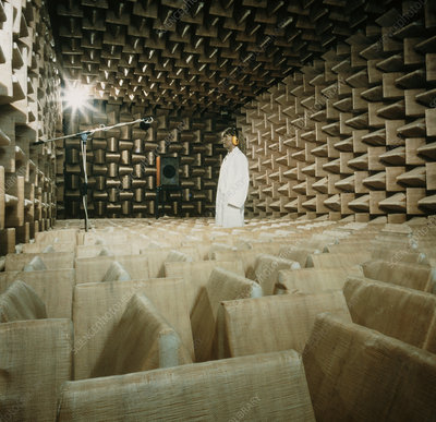 Echo-free chamber used in sound research