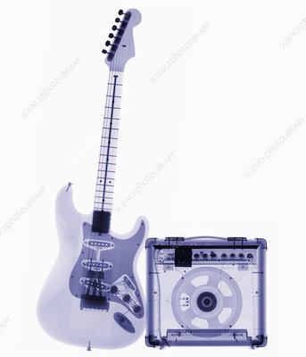 Electric guitar and amp X-ray