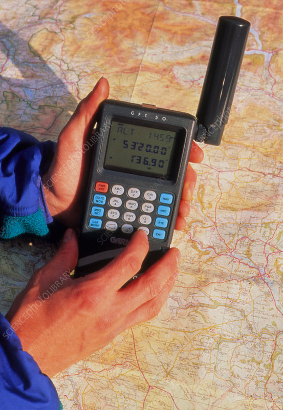 Hand-held GPS receiver and map