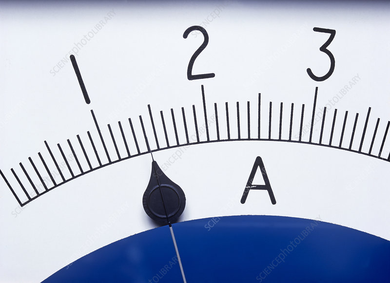 Ammeter For Science : Ammeter stock image t  science photo library