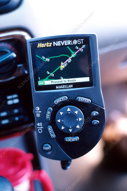 GPS Directional Device in Rental Car