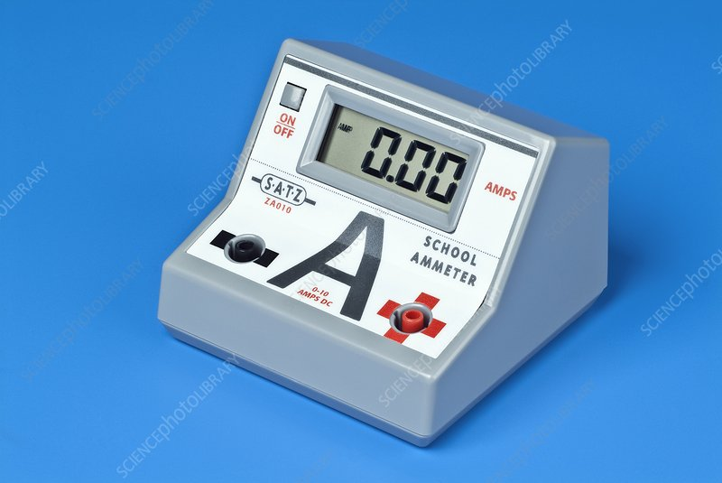 Ammeter For Science : Digital ammeter stock image t  science photo