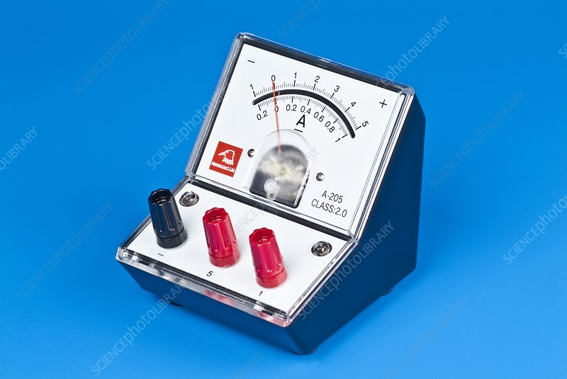 Ammeter For Science : Analogue ammeter stock image t  science photo