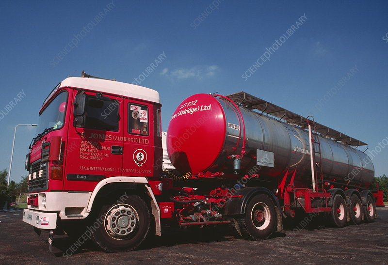 Road tanker used for bulk haulage of liquids